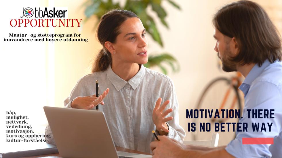 JobbAsker OPPORTUNITY mentor og -støtteprogram for innvandrere med høyere utdanning.